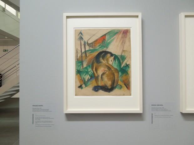 図2 「グルリット:ステータス・レポート」展会場風景、フランツ・マルクの作品、ベルン美術館、筆者撮影