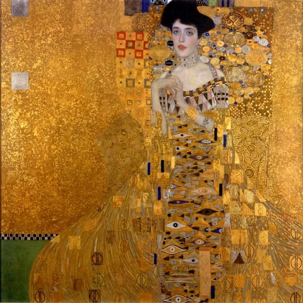 図1 グスタフ・クリムト《アデーレ・ブロッホ=バウアーの肖像I》1907年