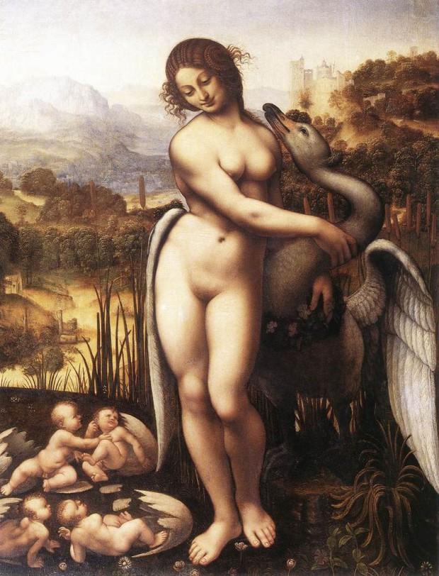 チェーザレ・ダ・セスト《レダ》(1510-1520年)、ローマ、ボルゲーゼ美術館蔵