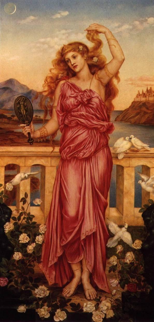 イヴリン・ド・モーガン《トロイのヘレネー》(1898年)、ロンドン、ド・モーガン・センター蔵