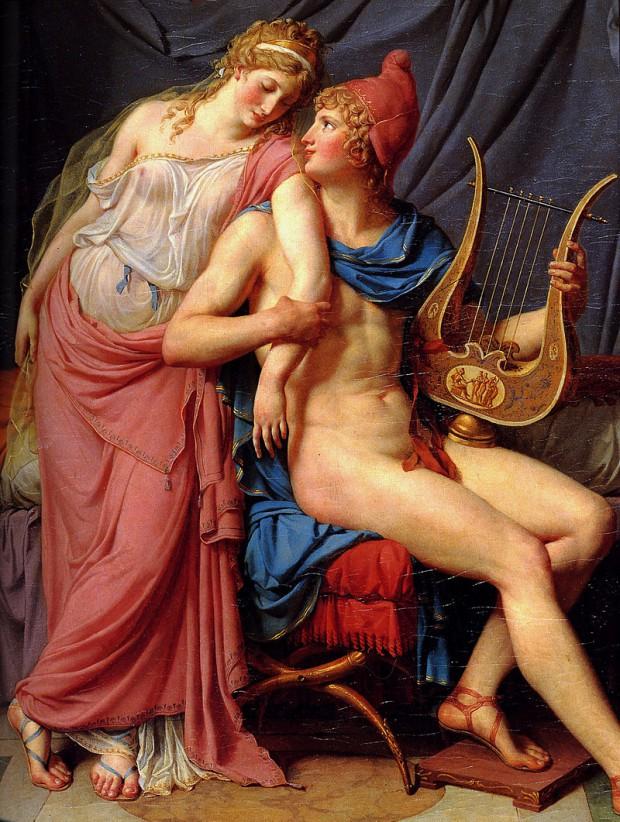 ジャック=ルイ・ダヴィド《ヘレネーとパリス》(部分)(1788年)、パリ、ルーヴル美術館蔵