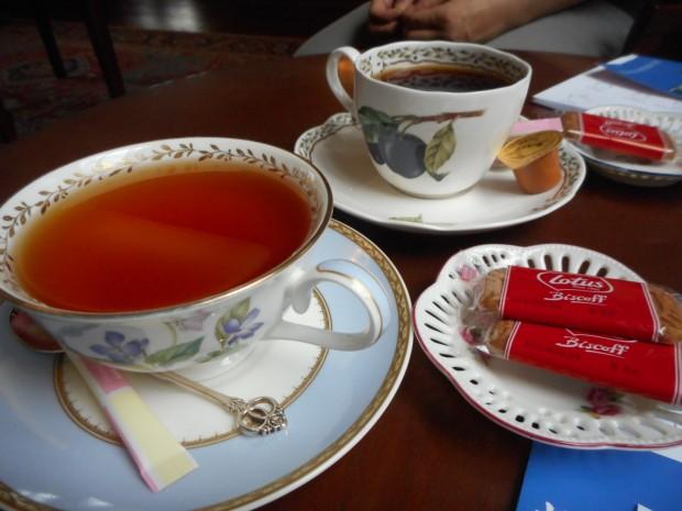 休憩室での喫茶